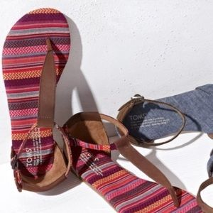 Toms Leather Playa Sandal